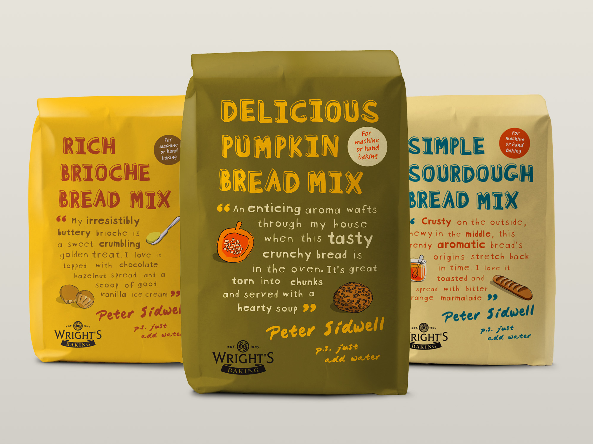 PETER SIDWELL ARTISAN BREAD MIX - Midas